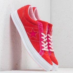 Converse One Star Ox Shoes Enamel Red.New!